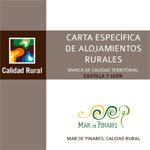Carta Específica de Alojamientos Rurales